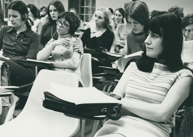 Concordia students ponder their options in 1972 | Courtesy of Records Management and Archives