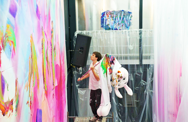 Brian Hunter uses video, interactive installations, and painting in his practice. | Image courtesy of the artist