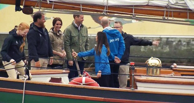 19 student leaders joined the Duke and Duchess of Cambridge aboard the Pacific Grace Tall Ship.