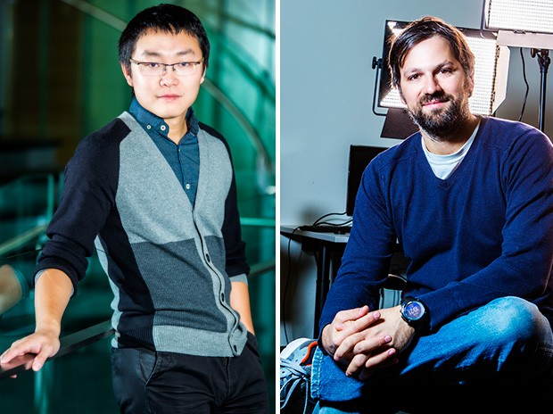 From left: Weiyi Shang and Charalambos Poullis | Photos by Concordia University