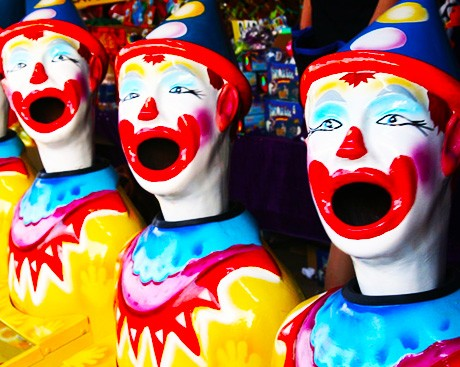 What's the deal with creepy clowns?