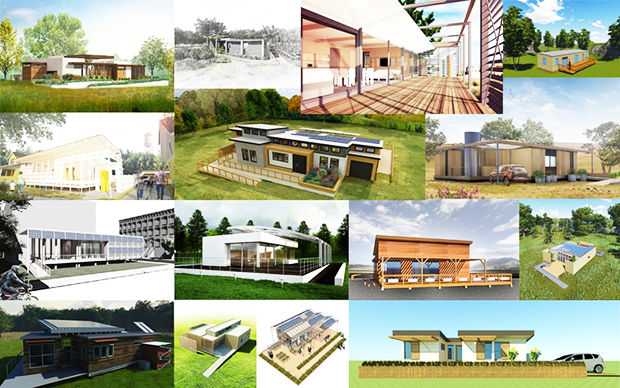Project renderings from the 2015 Solar Decathlon | Photo courtesy of the US Energy Department
