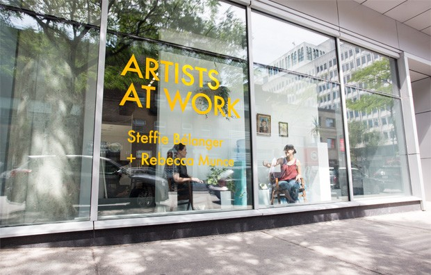Artists at Work (2016) harnessed the public nature of the gallery to foster participation from passersby and artists alike.