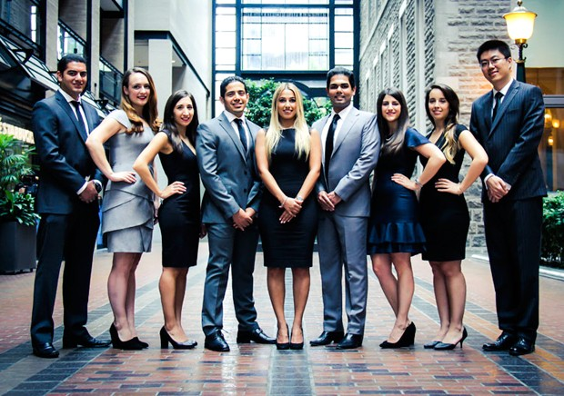 This year's organizing committee for the John Molson MBA International Case Competition.