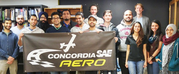 The Concordia SAE AeroDesign team.