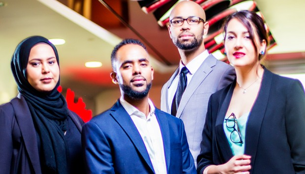 The Edel team (left to right): Khouloud Alsaieq, Muhammed Idris, Stephen Brown and Mahsa Khoshab.