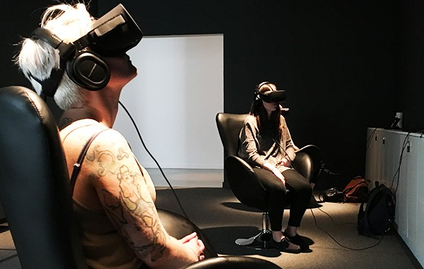 Virtual reality at the Phi Centre | Photo courtesy of Erica Lehrer