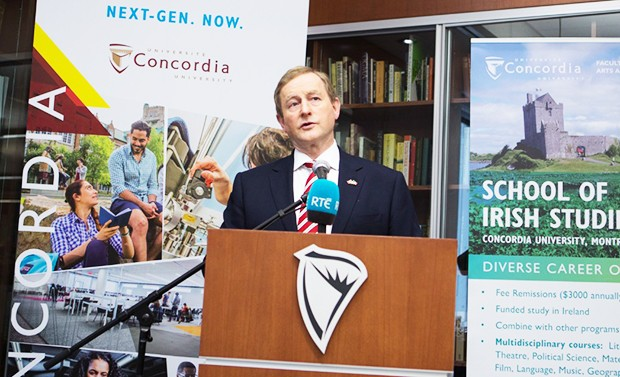 Irish prime minister Enda Kenny visited the School of Irish Studies.