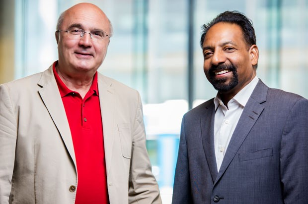 From left: Radu Zmeureanu and Muthukumaran Packirisamy