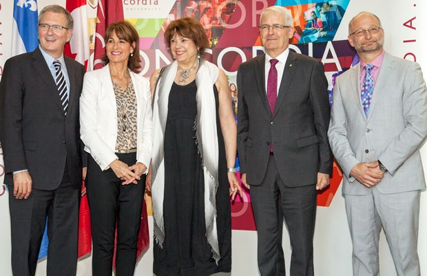 Alan Shepard (left), Kathleen Weil, Hélène David, Marc Garneau and David Lametti | Photo: Marion Elissalde