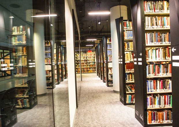 The Webster Library Transformation has increased study space and space to hold the print collection.