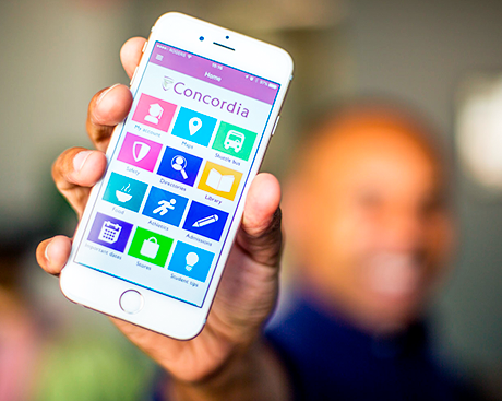 From shuttle bus schedules to student tips — it's the new Concordia app!