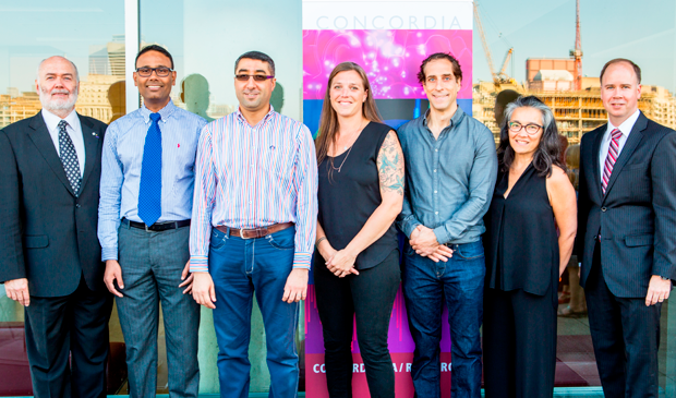 From left: Christope Guy, Saifur Rahaman, Jamal Benthar, Kristen Dunfield, Pat Forgione, Monika Kin Gagnon and Christopher Wilds.