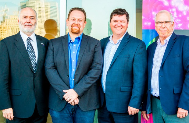 From left: Christophe Guy, Rafik Naccache and Suncor Energy's Alain Bibeau and Dean Dussault. Caroline Roux was unable to attend the event.