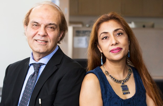 From left: M. Ayaz Naseem and Adeela Arshad-Ayaz | Photo by Concordia University