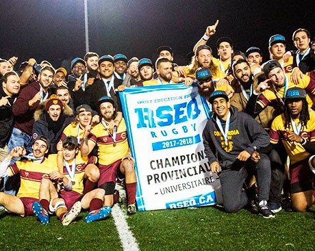 Concordia men's rugby: provincial champions!