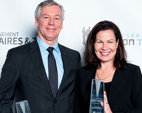 Marc Denoncourt and Anne-Marie Croteau win Méritic awards