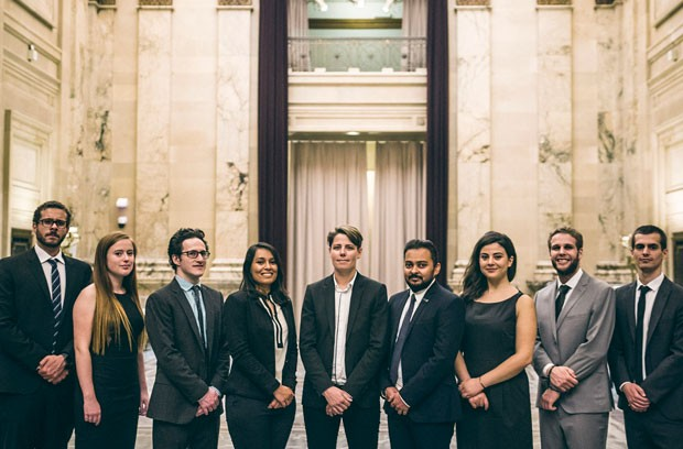 The 2018 MBA-ICC organizing committee (left to right): Misbah Natour, Karolyne Courville, Jesse Prent, Harshita Nigam, Aleksey Cameron, Kuldeep Patni, Ela Profka, Adriano D'Angelo, Jean Simon Castonguay