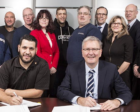 Concordia's downtown trade workers sign a new contract agreement