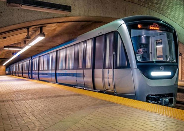 Montreal's blue metro car