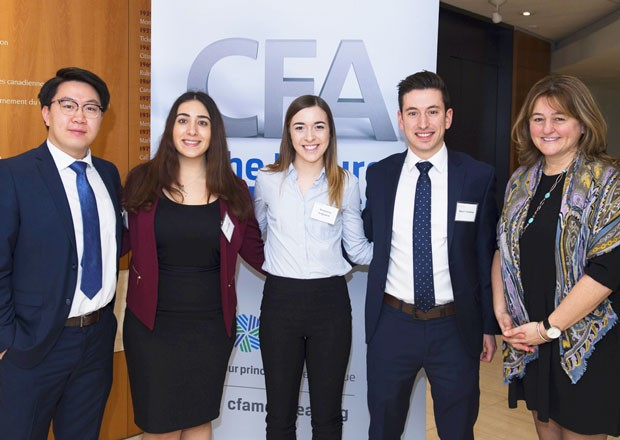 From left: Richard Yuan, Alina Israilian, Madeleine Sedgewick, Marco Tremblay and Reena Atanasiadis.