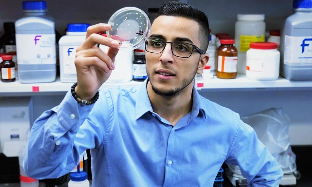 Younes Medkour, a PhD candidate in the Department of Biology