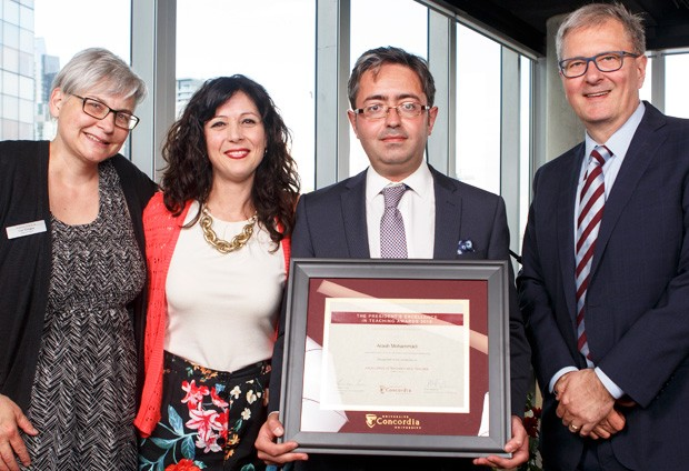 From left: Lisa Ostiguy, Sandra Gabriele, Arash Mohammadi, assistant professor, Concordia Institute for Information Systems Engineering, and Alan Shepard.