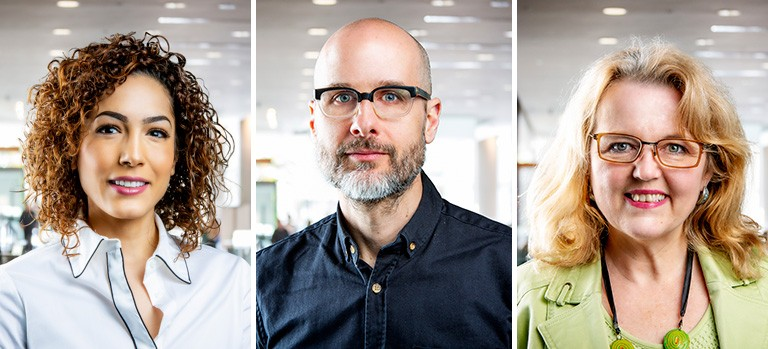 From left to right: Nura Jabagi, Eric Fillion and Michelle Savard | Photos by Concordia University