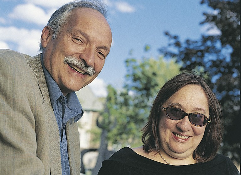 "Murphy with Lorna Roth on the Loyola Campus in 2005. ""He was an incredibly sensitive and attentive teacher."""