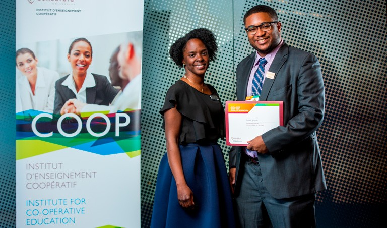Isaiah Joyner was this year's recipient of the Alexandre Quintal Co-op Student of the Year Award.