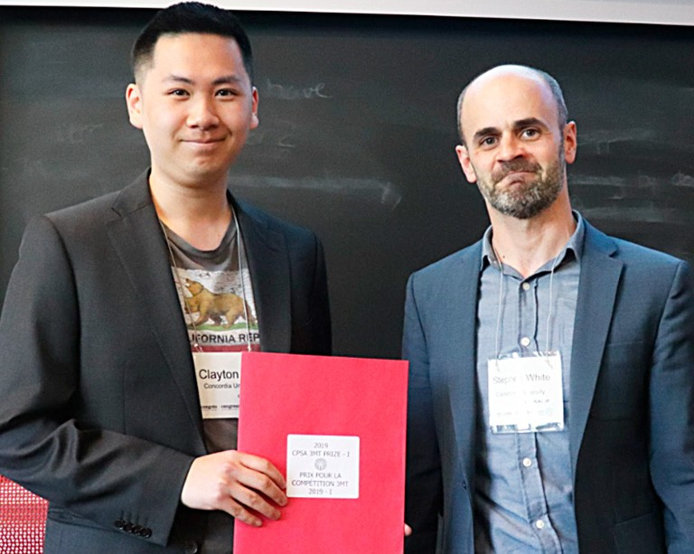 Concordian Clayton Ma wins the Canadian Political Science Association Three-Minute Thesis Competition
