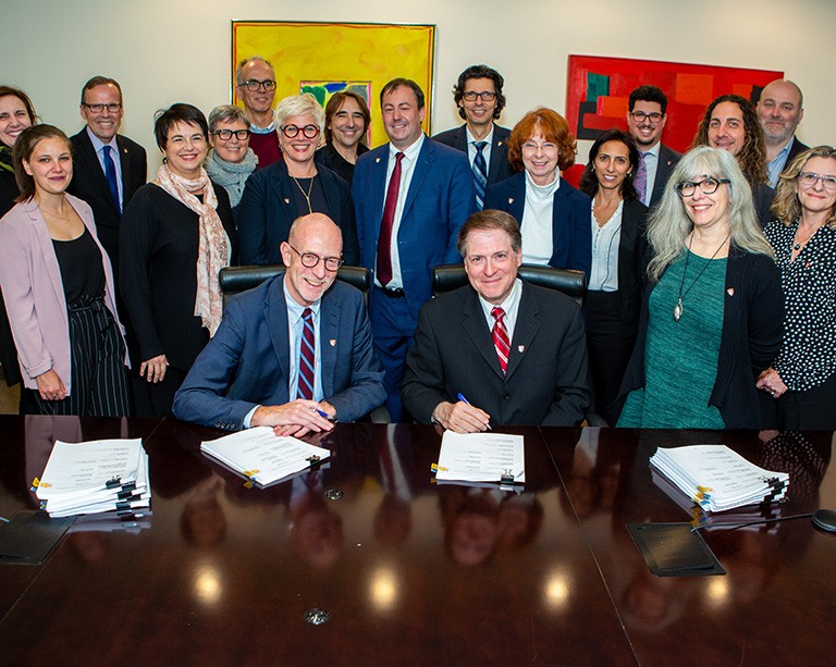 Concordia part-time faculty sign a new agreement with the university