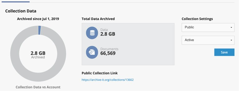 Figure 2: Concordia Records Management and Archives (RMA) archived data.