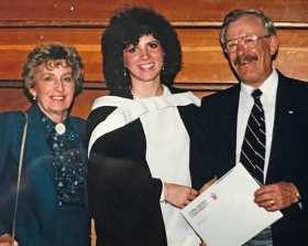 Andrea Pritchard and her parents