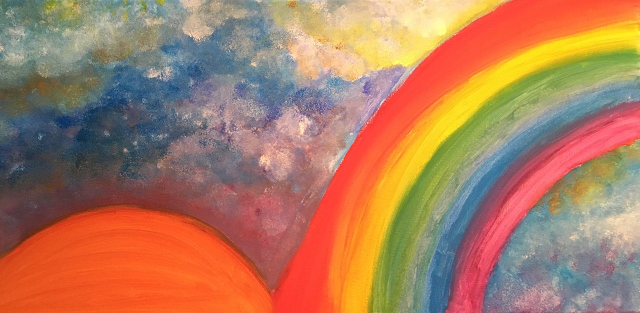 Rainbow painting by Luna Julien