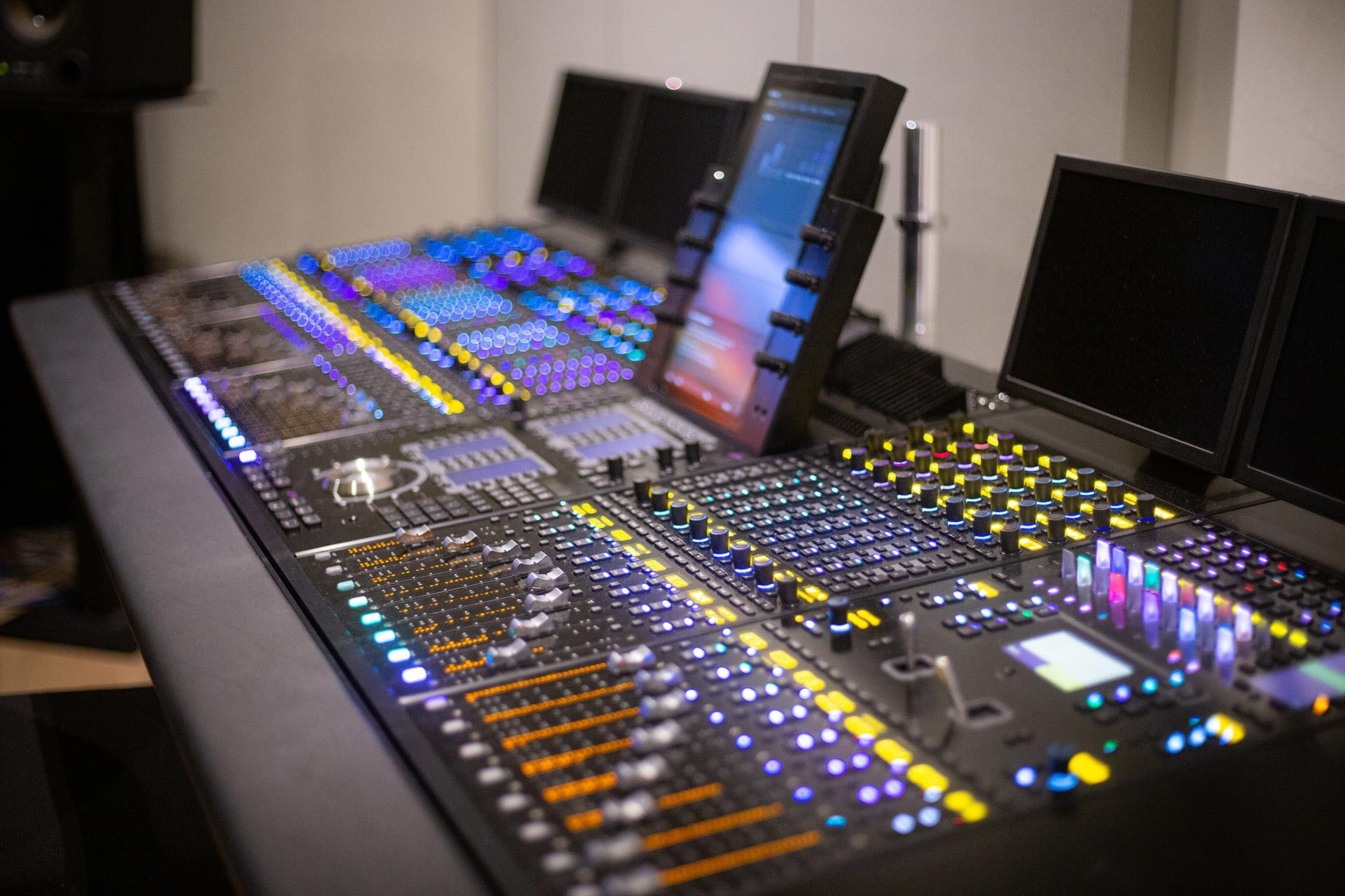 The donated Avid S6 mixer