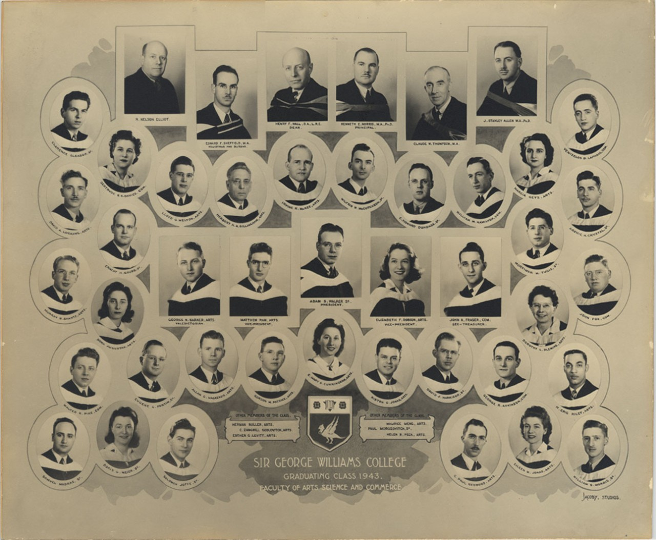 Sir George Williams College 1943 Graduating Class