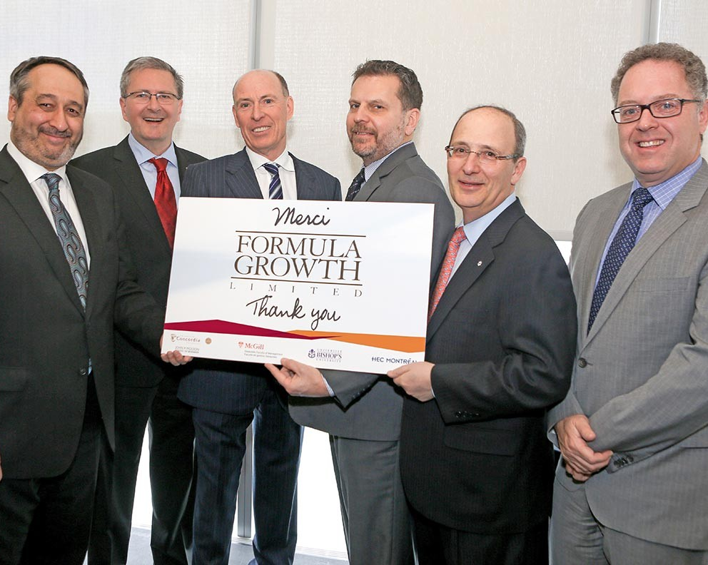 Formula Growth donates $1.1 million to four Quebec universities