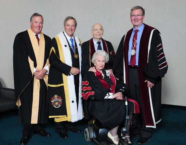 Michal and Renata Hornstein at their honorary degree ceremony