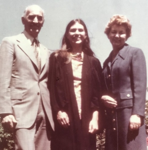 Christine Lengvari and her parents