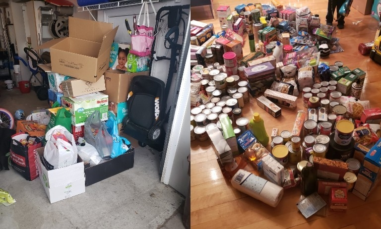 Donations poured in throughout Human Resources' annual Sun Youth holiday food drive.