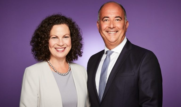 From right: Dean of the John Molson School of Business, Anne-Marie Croteau, and President and CEO of Raymond Chabot Grant Thornton, Emilio Imbriglio.