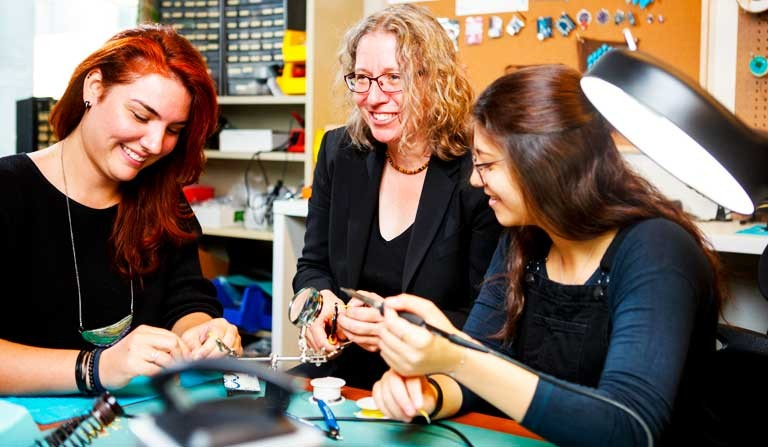 "Ann-Louise Davidson (pictured centre): ""I want to give everyone maker fever!"""