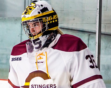 Concordia women's hockey goaltender Katherine Purchase is a high achiever — on and off the ice