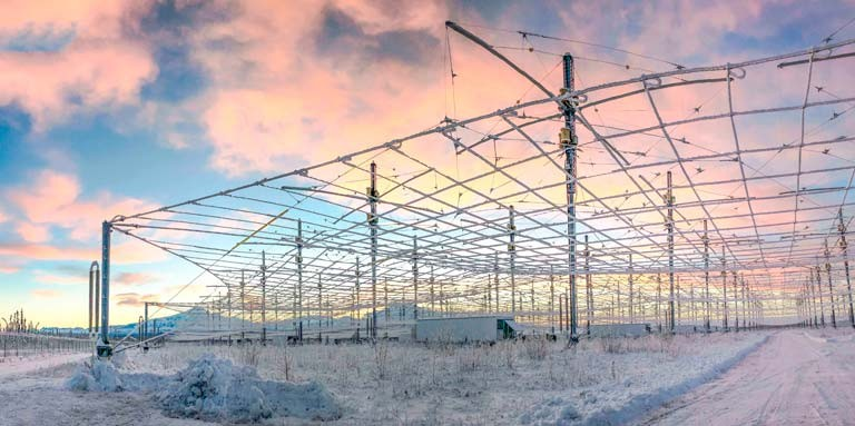 Ghosts in the Air Glow is officially the first Canadian-funded project to take place at HAARP. | Photo courtesy of UAF