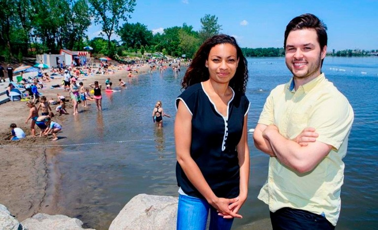 Naysan Saran and Nicolas Fortin St-Gelais's Cann Forecast software helps municipalities make better shoreline and water-treatment management choices.