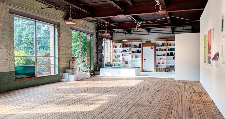 A view of Anteism Book's new project space at 435 Beaubien West. | All photos courtesy of Harley Smart