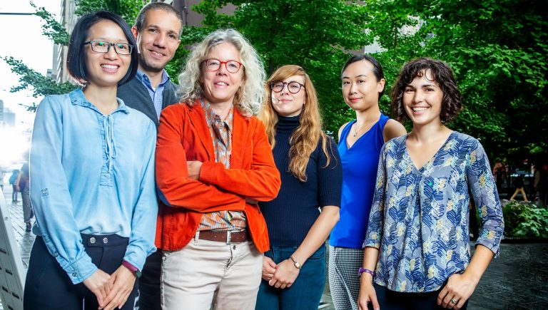Meet the team (from left): Chunyan Lai, Mohamed Ouf, Ursula Eicker, Alice Jarry, Jing Hu and Carly Ziter.