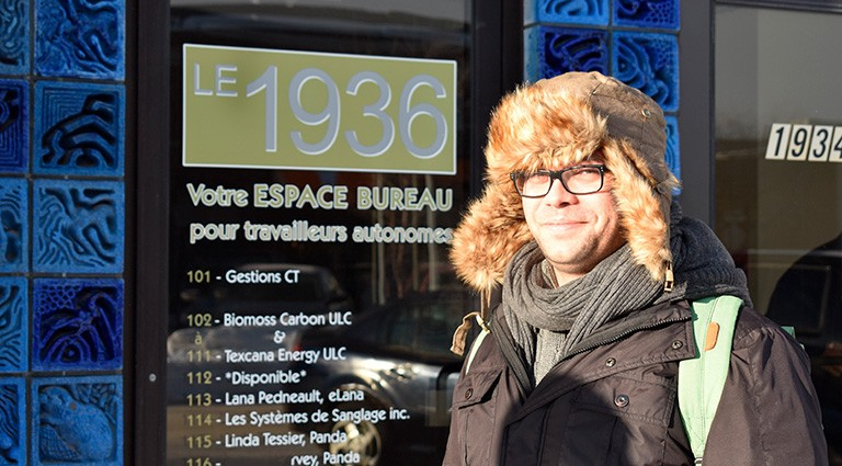 Concordia student Michael Bramadat-Willcock testing in Saguenay. | Photo by Mia Anhoury