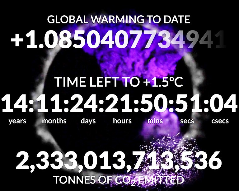 Concordia's Climate Clock will update on December 12 — and time is ticking!